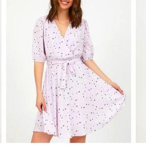 NWT large floral fit & flare mini dress